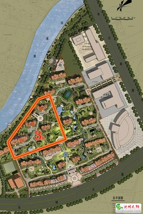 沿河公园设计平面图